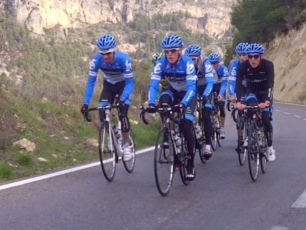 Duurtraining met de Stage Race Group door het middengebergte rond Calpe
